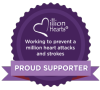 Million Hearts. Working to prevent a million heart attacks and strokes. Proud supporter.